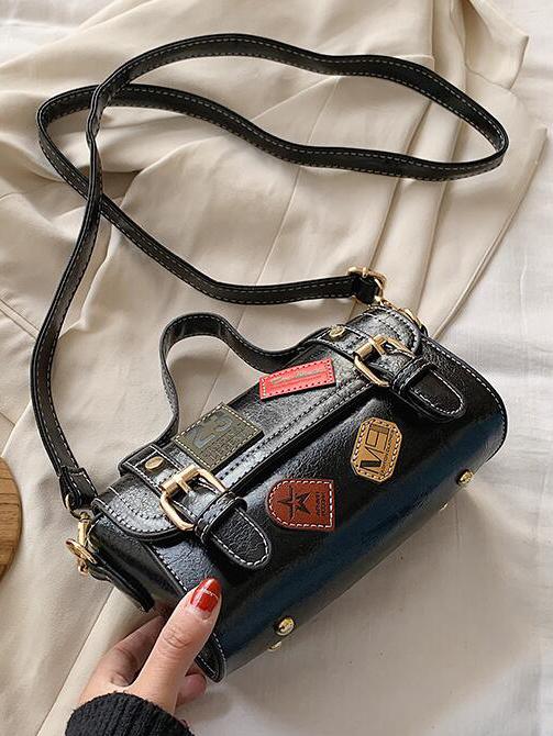 Retro Patchwork Large Capacity Crossbody Shoulder Bags