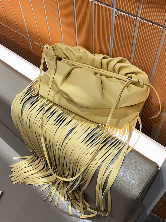 Tassel Hem Solid Women Shoulder Bag Casual