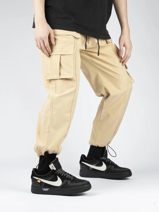 Trendy Pocket-Designed Loose Cargo Pants For Men (2)