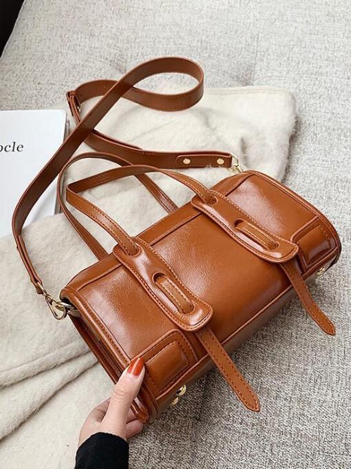 Vintage Large Capacity Leather Crossbody Shoulder Bag
