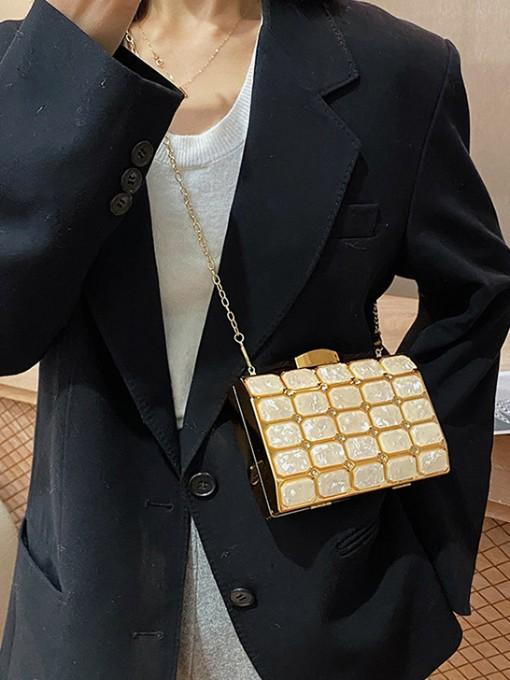Vintage Style Marbling Pattern Evening Bag