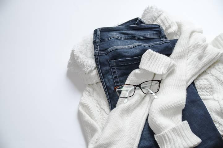 sweater and denim